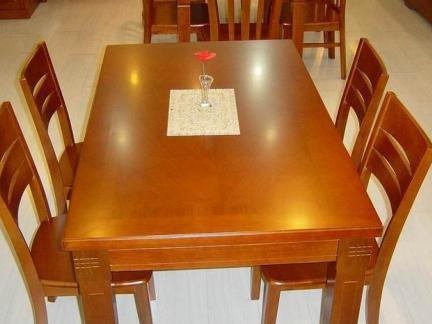 家装设计实木餐桌餐椅图片