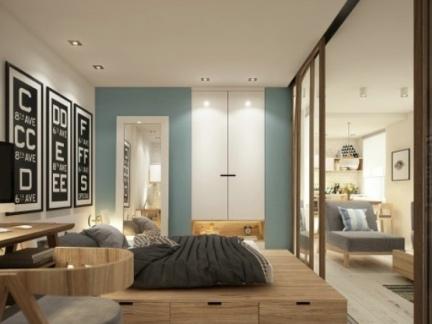 日式风格卧室电视背景墙图片
