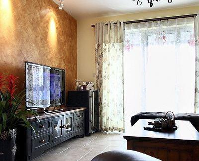 现代风格家庭设计客厅电视背景墙图片