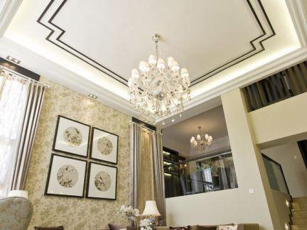 中式客厅吊顶设计效果图图片