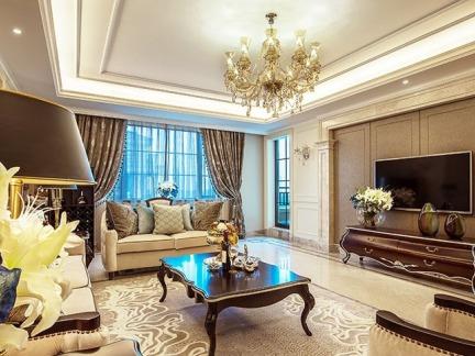现代欧式120平米三室两厅装修效果图大全图片