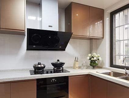 现代烤漆橱柜厨房装修效果图