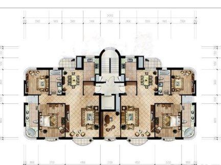 120平方别墅效果图 房天下装修效果图