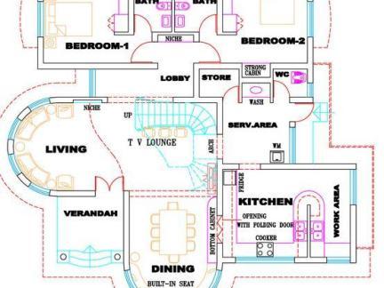 时尚现代别墅设计图纸