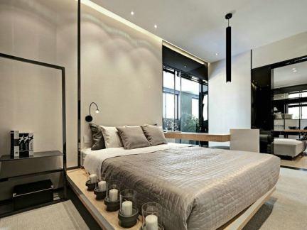 现代简约大卧室板式家具图片