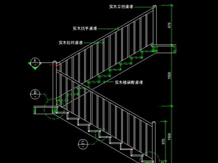 家庭设计旋转楼梯cad