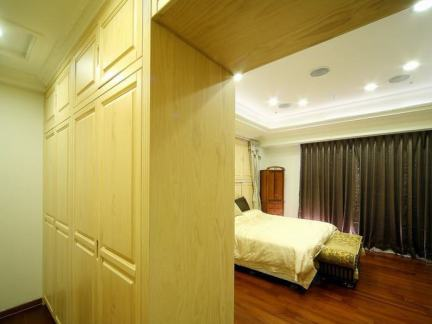 美式卧室隔断柜