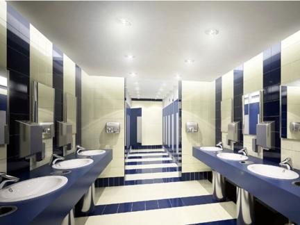 中式公共厕所装修效果图图片