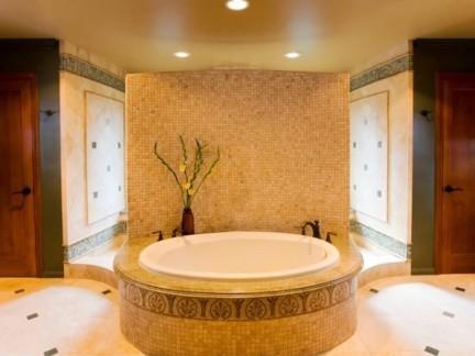 豪华家装浴室圆形浴缸展示