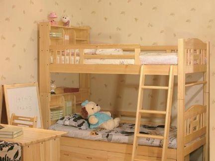 装修儿童房大全上下铺木床