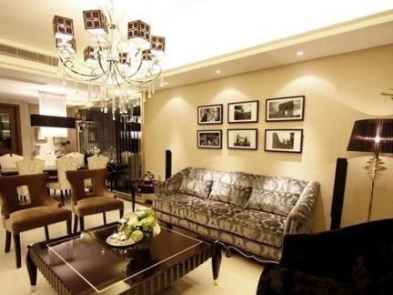 美式120平米房子客厅装修效果图