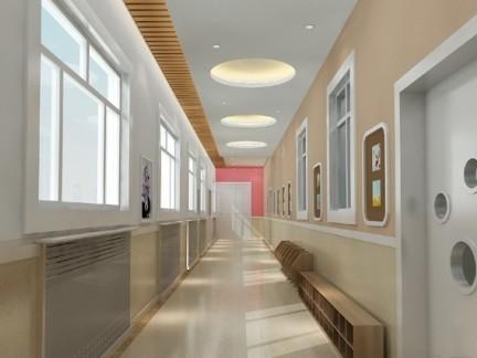 幼儿园走廊装修设计效果图