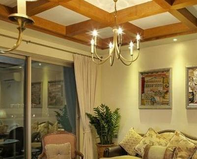 客厅室内木吊顶图片