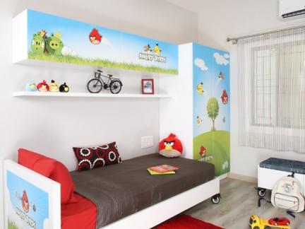 儿童房卡通手绘墙