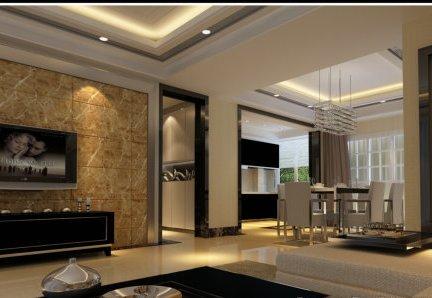 客厅大理石墙面装修效果图 - 星艺装饰