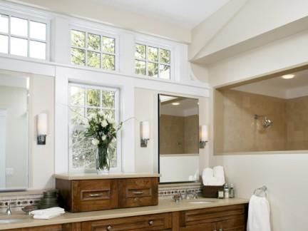 美式设计卫生间窗户效果图大全
