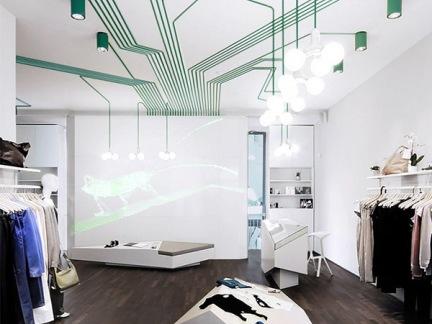 时尚服装店创意灯具设计