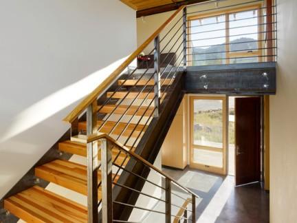 现代风格复式楼梯家居效果图-2018家居现代楼梯扶手效果图 房天下装