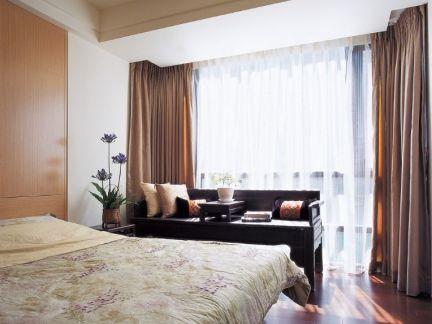 中式家居卧室装潢窗帘效果图