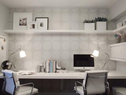 北欧风格书房书柜设计图片-房天下装修效果图图片