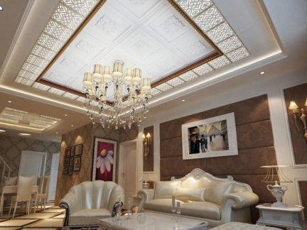 欧式客厅吊顶效果图欣赏图片