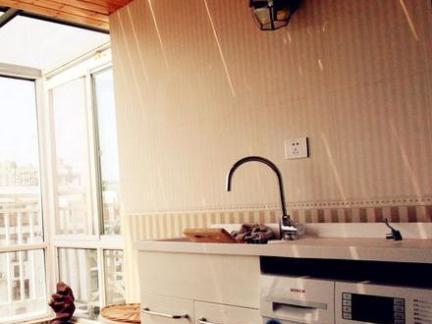 室内阳台洗衣池效果图