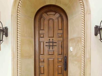 拱形实木复合门设计大全