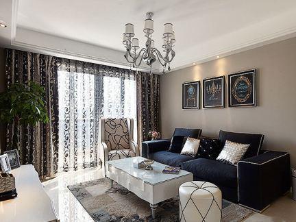 现代装修修样板间两室一厅户型设计图片