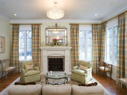 客厅窗帘效果图欣赏高清图片