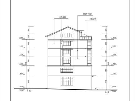 小区建筑立面图欣赏