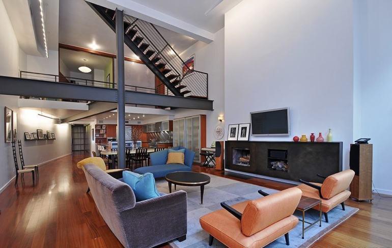 客厅挑空复式楼装修效果图图片