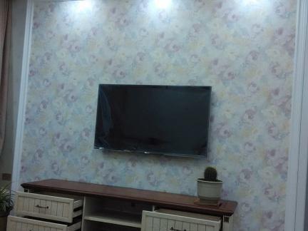 田园家居电视背景墙壁纸装修效果图