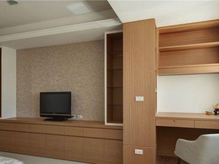 新中式室内电视背景墙设计效果图