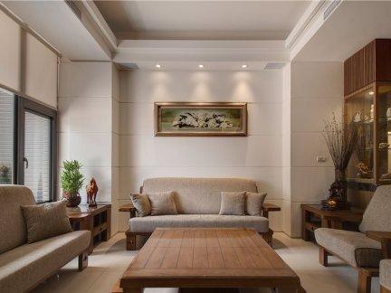新中式三居客厅家装设计效果图