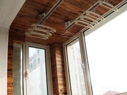室内阳台木吊顶图片