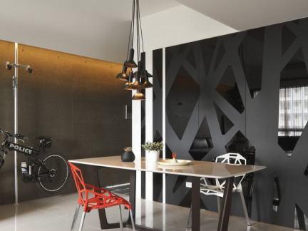 45平米现代简约风格公寓室内设计图片