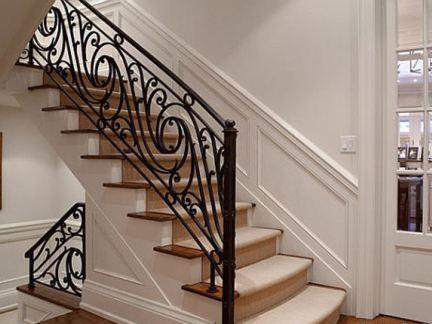 家庭铁艺楼梯扶手图片