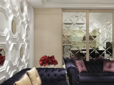 美式家装设计沙发背景墙图片