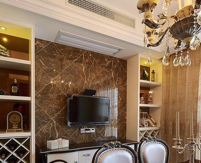 美式古典餐厅电视背景墙图片
