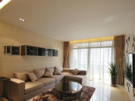 现代家装客厅电视背景墙家居图片