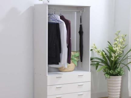 白色简约家用储物柜图片