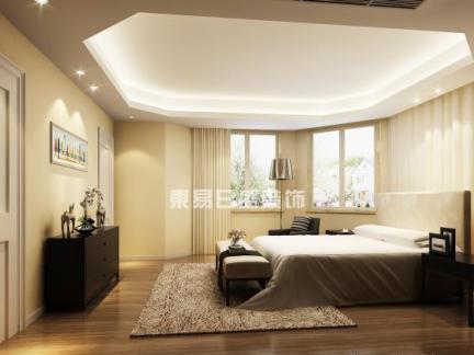 2017卧室有梁吊顶造型设计-房天下装修效果图图片
