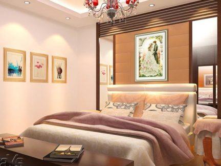 2017卧室皇室欧洲十字绣图片-房天下装修效果图图片
