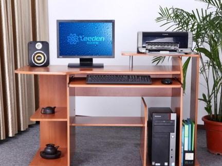 实木办公台式电脑桌图片