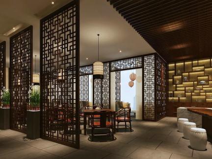 中式豪华茶馆设计