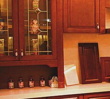 厨房实木橱柜门图片