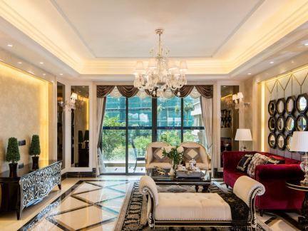 欧式家装一室一厅户型装修效果图大全