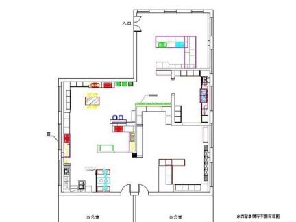 欧式家具展厅平面图