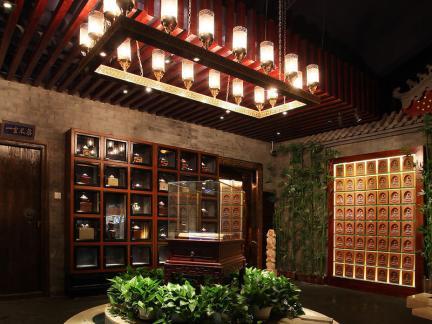 茶馆装饰大厅效果图