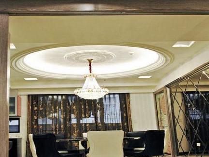 简欧圆形餐厅吊顶效果图图片